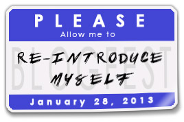 Badge for the please allow me to reintroduce myself blogfest