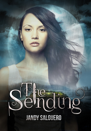 Book cover for the sending featuring a girl with dark hair in front of the moon