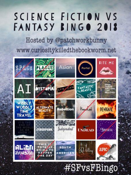 Sci-Fi vs. Fantasy Bingo 2018