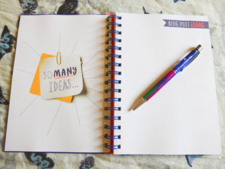 A Blogger's Journal Ideas Page