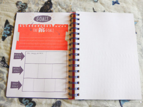 A Blogger's Journal Goals page from Paperchase
