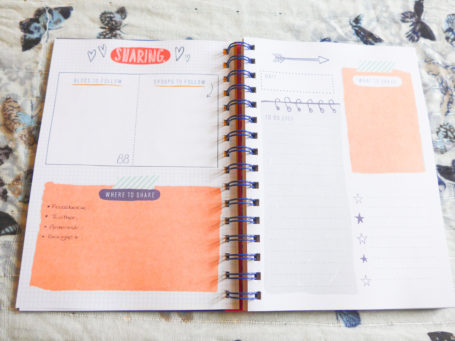 The Blogger's Journal Sharing Page