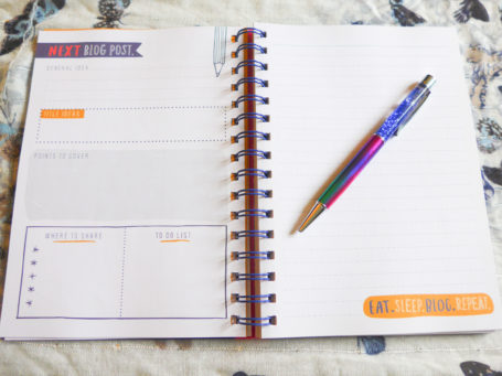 A Blogger's Journal new blog post page