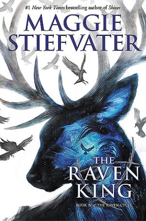 Book cover for The Raven King by Maggie Stiefvater