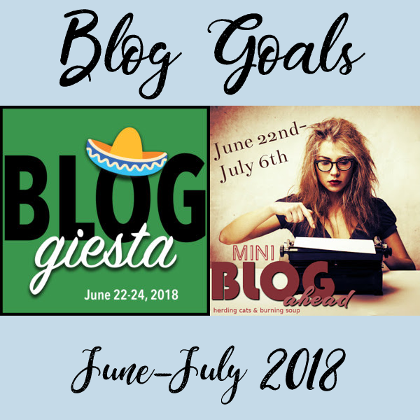 buttons for bloggiesta and blog ahead june 2018