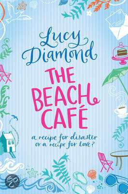 Book cover for the Beach Cafe for Lucy Diamond