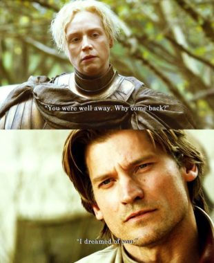 Briene and Jamie from A Game of Thrones (TV show)