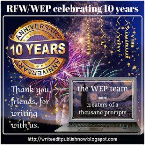WEP 10 year anniversary badge