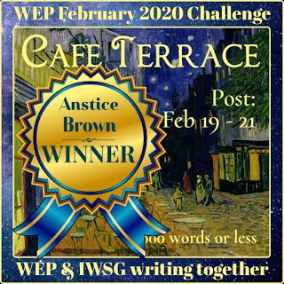 WEP winners badge for Anstice Brown, February 2020