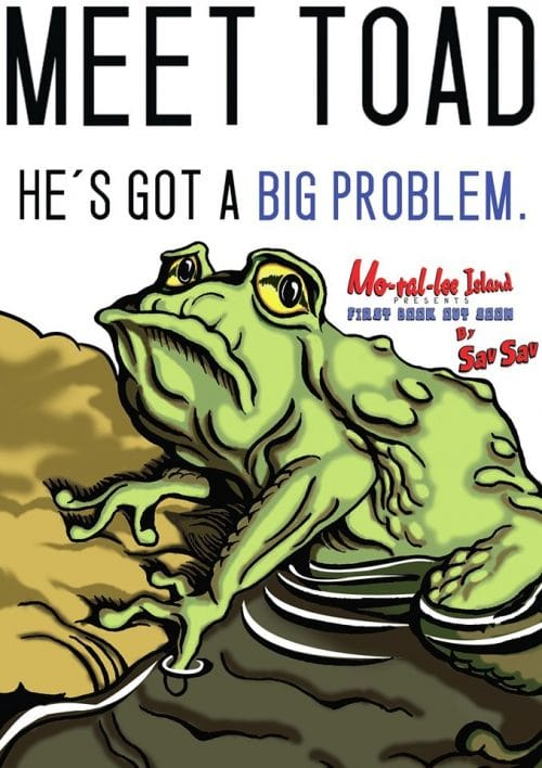 Meet Toad. He's got a big problem. Tongue-tied Toad & Fluent Fly is a new book by Sav Sav.