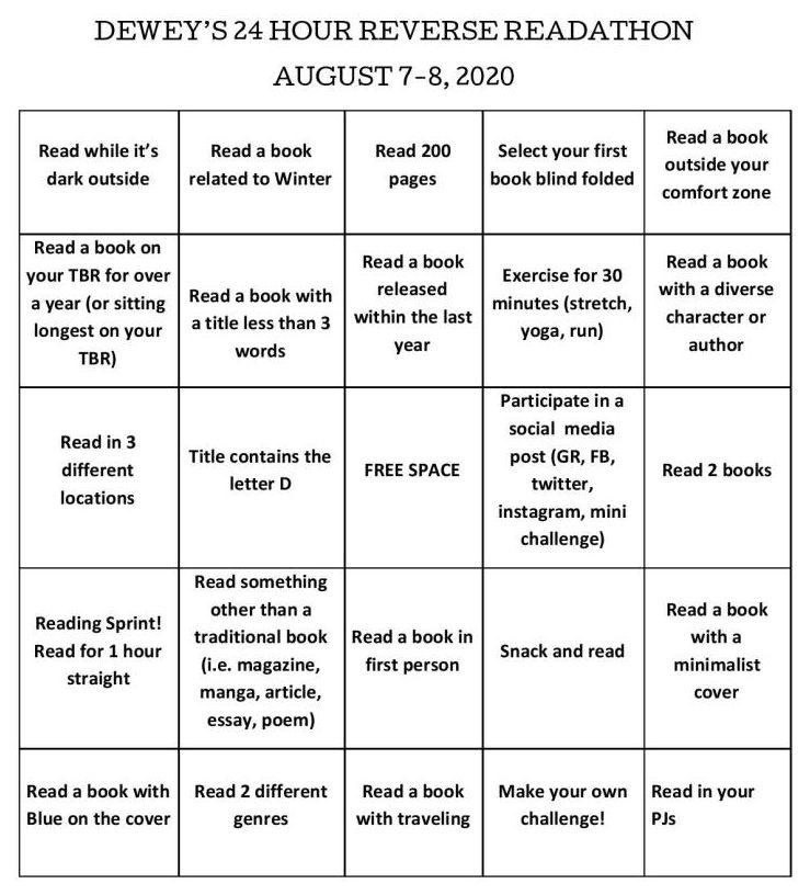 Readathon for Deweys Reverse Readthon August 2020