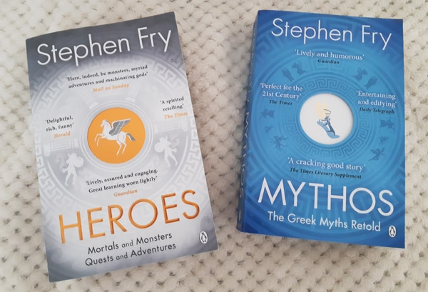 heroes and mythos books by Stephen Fry